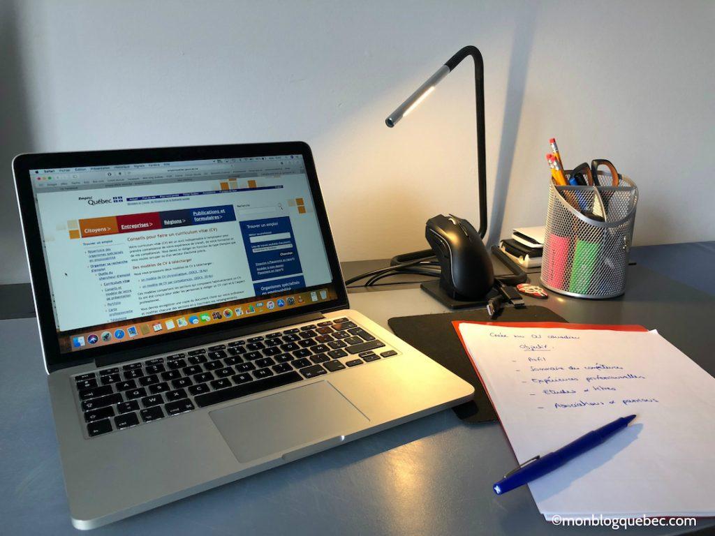 Immigrer Créer son CV canadien monblogquebec