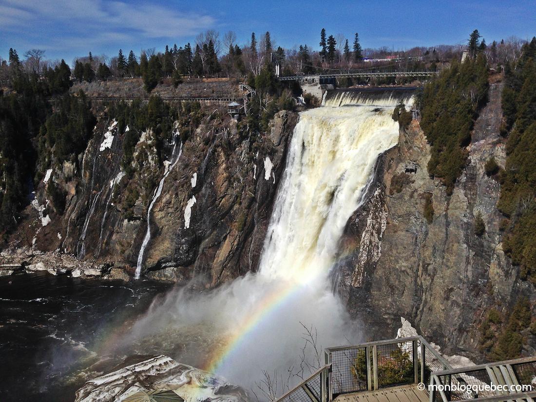 Découvrir Road Book à Québec Chute Montmorency monblogquebec