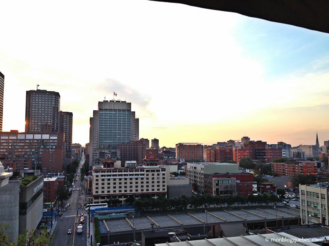 Top 5 des terrasses avec vue de Montréal monblogquebec Coucher de soleil sur la ville