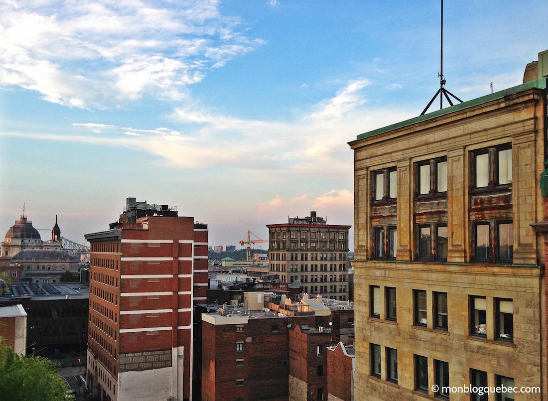 Top 5 des terrasses avec vue à Montréal monblogquebec Les toits de la vieille ville