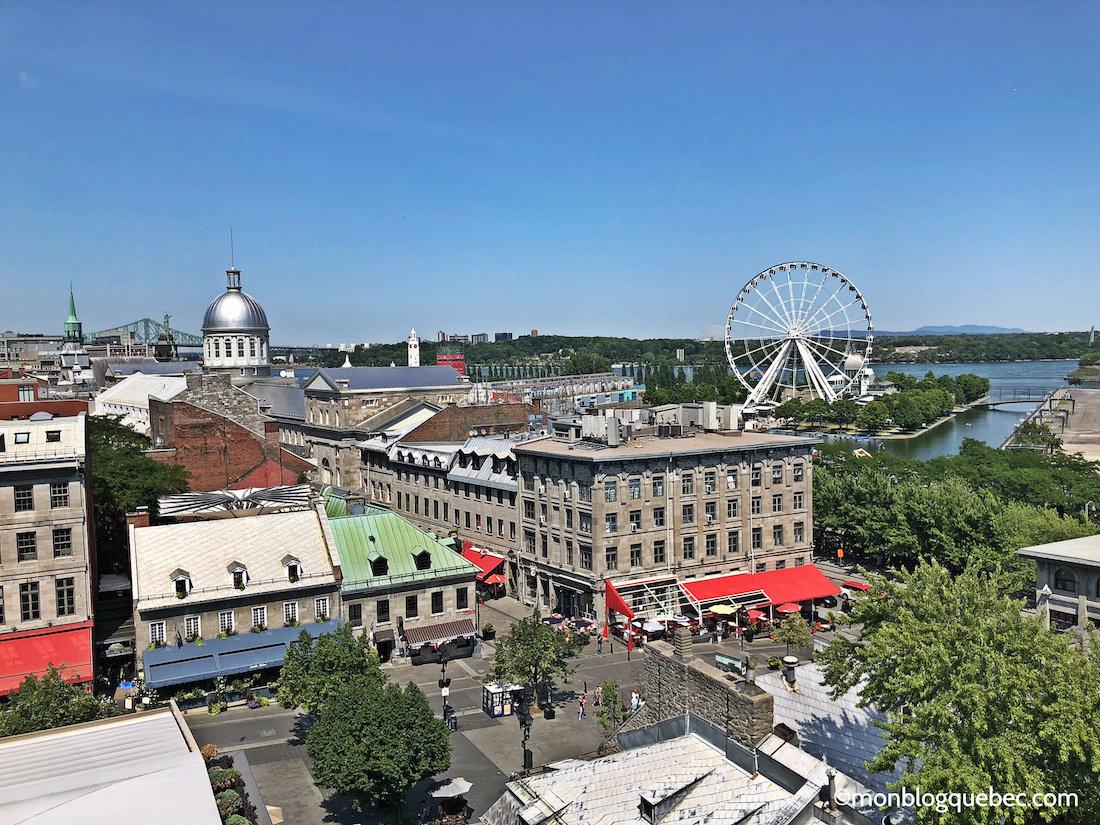 Top 5 des terrasses avec vue à Montréal monblogquebec Tressase William Grey Panorama sur le vieux-Montréal