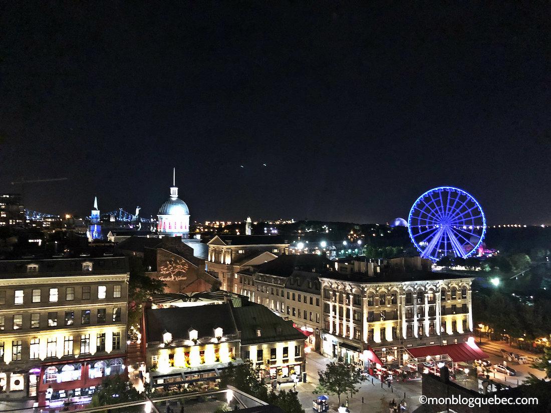 Top 5 des terrasses avec vue à Montréal Terrasse William Grey vue de nuit