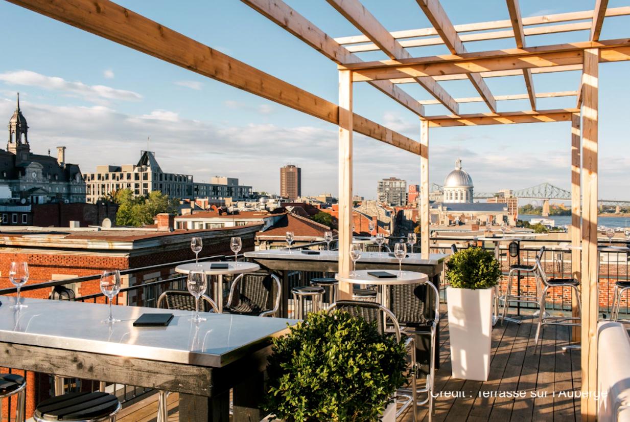 Top 5 des terrasses avec vue à Montréal monblogquebec Terrasse sur l4auberge
