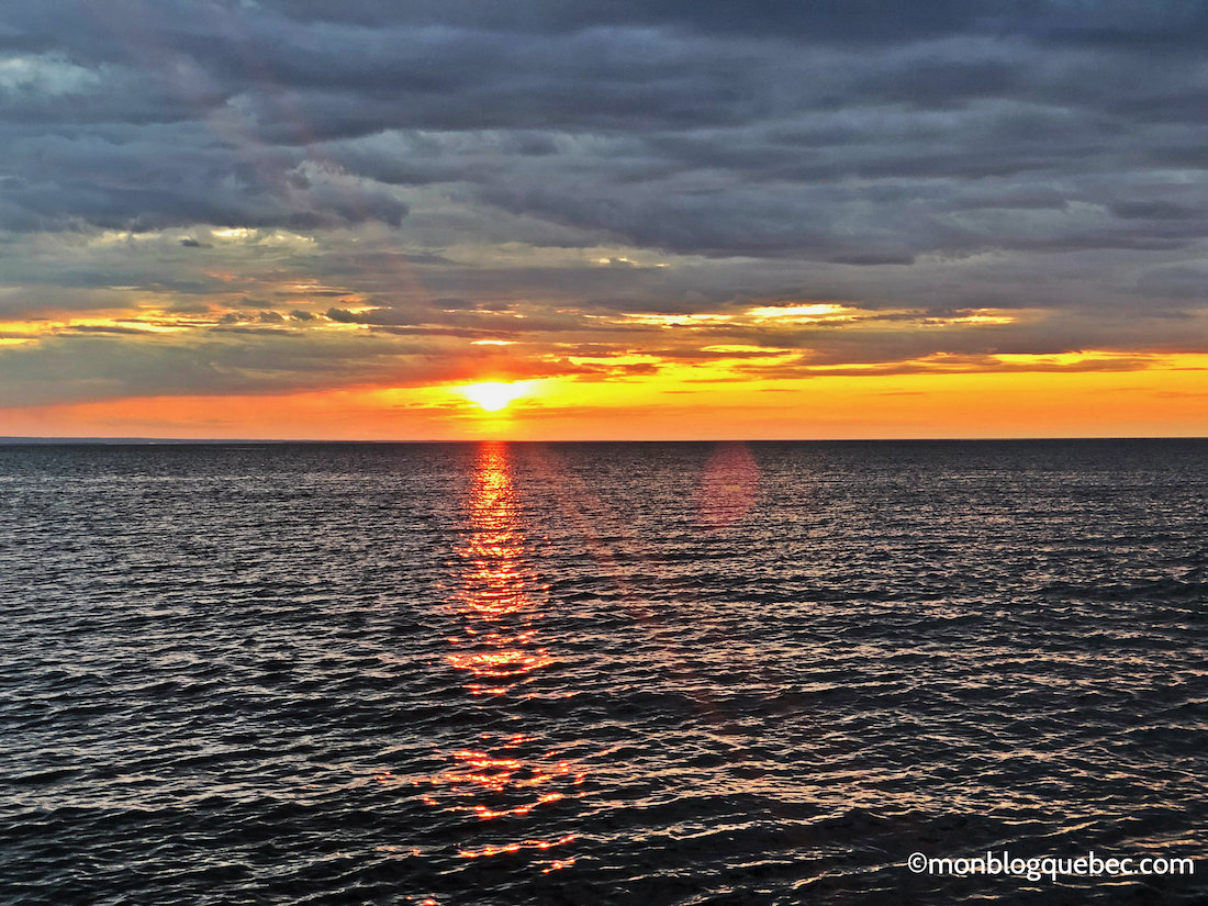 Voyage au Saguenay Lac Saint-Jean Coucher de soleil lac St-Jean