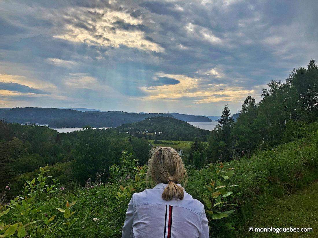 Voyage au Saguenay Lac Saint-Jean Vue panoramique Anse à la roche