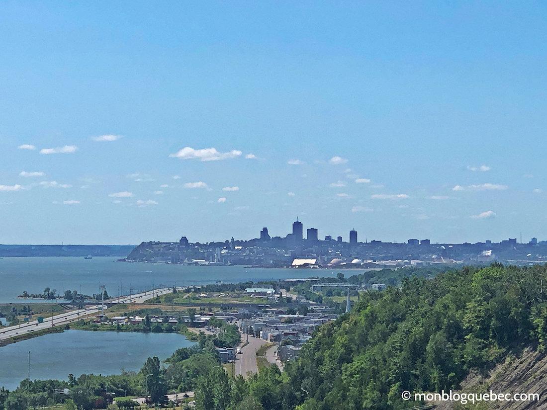 Chutes de Montmorency Vue sur Québec
