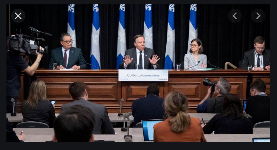 Covid-19 le point presse au Québec
