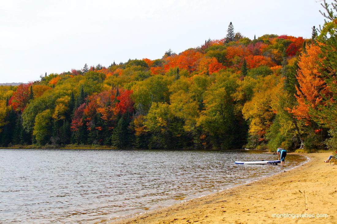 La saison des couleurs au Québec Lac Moroe